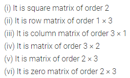 ML Aggarwal Class 10 Solutions for ICSE Maths Chapter 8 Matrices Ex 8.1 1