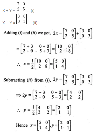 ML Aggarwal Class 10 Solutions for ICSE Maths Chapter 8 Matrices Ex 8.2 10