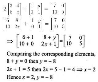 ML Aggarwal Class 10 Solutions for ICSE Maths Chapter 8 Matrices Ex 8.2 11