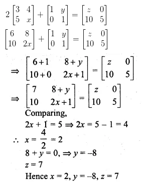 ML Aggarwal Class 10 Solutions for ICSE Maths Chapter 8 Matrices Ex 8.2 12