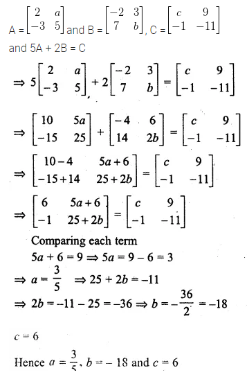 ML Aggarwal Class 10 Solutions for ICSE Maths Chapter 8 Matrices Ex 8.2 15