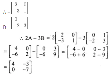 ML Aggarwal Class 10 Solutions for ICSE Maths Chapter 8 Matrices Ex 8.2 2