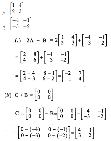 ML Aggarwal Class 10 Solutions for ICSE Maths Chapter 8 Matrices Ex 8.2 4