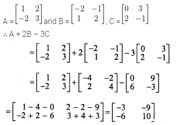 ML Aggarwal Class 10 Solutions for ICSE Maths Chapter 8 Matrices Ex 8.2 5
