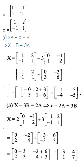 ML Aggarwal Class 10 Solutions for ICSE Maths Chapter 8 Matrices Ex 8.2 6