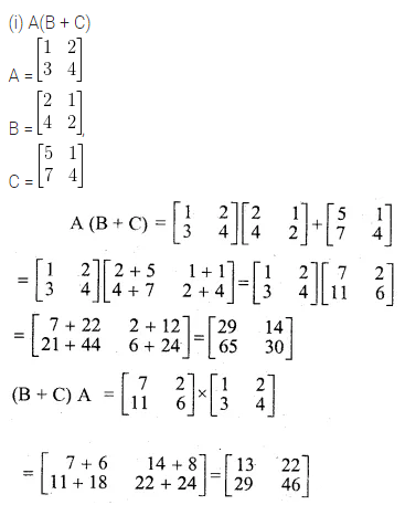 ML Aggarwal Class 10 Solutions for ICSE Maths Chapter 8 Matrices Ex 8.3 12