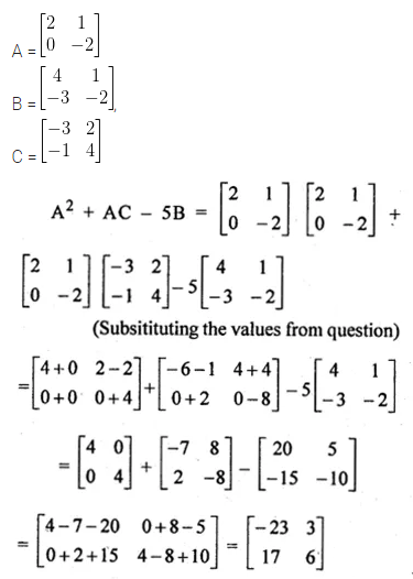 ML Aggarwal Class 10 Solutions for ICSE Maths Chapter 8 Matrices Ex 8.3 16