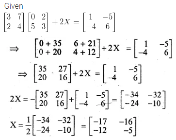 ML Aggarwal Class 10 Solutions for ICSE Maths Chapter 8 Matrices Ex 8.3 20