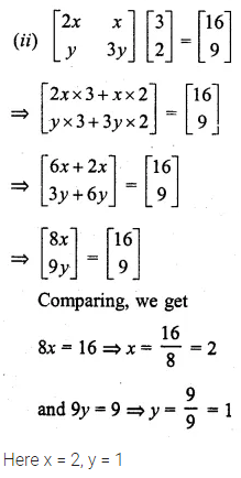 ML Aggarwal Class 10 Solutions for ICSE Maths Chapter 8 Matrices Ex 8.3 24