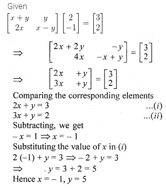 ML Aggarwal Class 10 Solutions for ICSE Maths Chapter 8 Matrices Ex 8.3 25