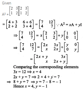 ML Aggarwal Class 10 Solutions for ICSE Maths Chapter 8 Matrices Ex 8.3 34