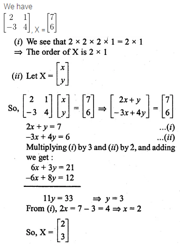 ML Aggarwal Class 10 Solutions for ICSE Maths Chapter 8 Matrices Ex 8.3 37