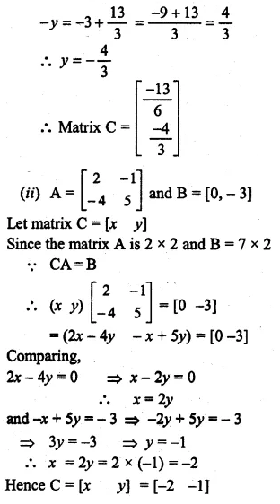ML Aggarwal Class 10 Solutions for ICSE Maths Chapter 8 Matrices Ex 8.3 40