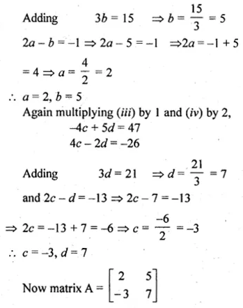 ML Aggarwal Class 10 Solutions for ICSE Maths Chapter 8 Matrices Ex 8.3 44