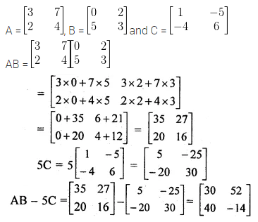 ML Aggarwal Class 10 Solutions for ICSE Maths Chapter 8 Matrices Ex 8.3 5