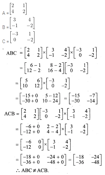 ML Aggarwal Class 10 Solutions for ICSE Maths Chapter 8 Matrices Ex 8.3 7