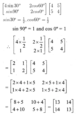 ML Aggarwal Class 10 Solutions for ICSE Maths Chapter 8 Matrices Ex 8.3 8