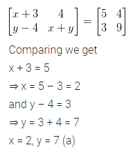 ML Aggarwal Class 10 Solutions for ICSE Maths Chapter 8 Matrices MCQS 2