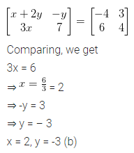 ML Aggarwal Class 10 Solutions for ICSE Maths Chapter 8 Matrices MCQS 3