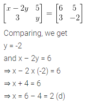 ML Aggarwal Class 10 Solutions for ICSE Maths Chapter 8 Matrices MCQS 4