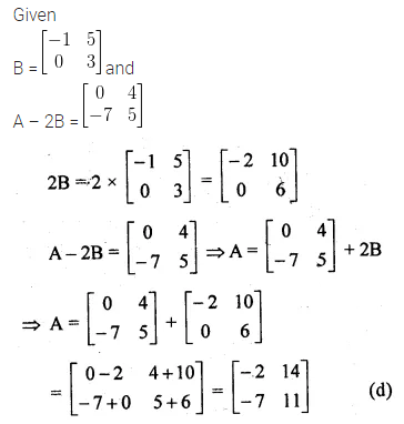 ML Aggarwal Class 10 Solutions for ICSE Maths Chapter 8 Matrices MCQS 7
