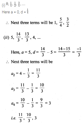 ML Aggarwal Class 10 Solutions for ICSE Maths Chapter 9 Arithmetic and Geometric Progressions Chapter Test 1