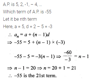 ML Aggarwal Class 10 Solutions for ICSE Maths Chapter 9 Arithmetic and Geometric Progressions Chapter Test 10