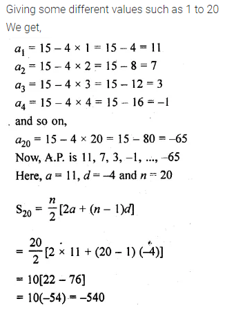 ML Aggarwal Class 10 Solutions for ICSE Maths Chapter 9 Arithmetic and Geometric Progressions Chapter Test 19