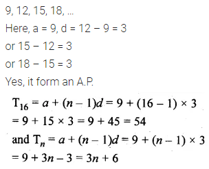 ML Aggarwal Class 10 Solutions for ICSE Maths Chapter 9 Arithmetic and Geometric Progressions Chapter Test 3
