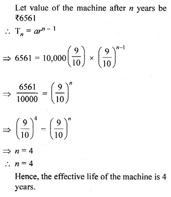 ML Aggarwal Class 10 Solutions for ICSE Maths Chapter 9 Arithmetic and Geometric Progressions Chapter Test 41