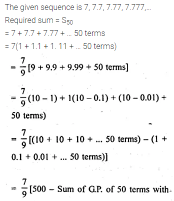 ML Aggarwal Class 10 Solutions for ICSE Maths Chapter 9 Arithmetic and Geometric Progressions Chapter Test 46