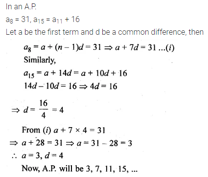 ML Aggarwal Class 10 Solutions for ICSE Maths Chapter 9 Arithmetic and Geometric Progressions Chapter Test 5