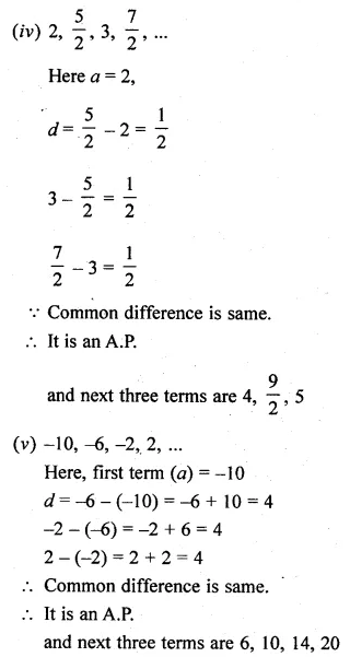 ML Aggarwal Class 10 Solutions for ICSE Maths Chapter 9 Arithmetic and Geometric Progressions Ex 9.1 4