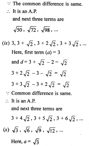 ML Aggarwal Class 10 Solutions for ICSE Maths Chapter 9 Arithmetic and Geometric Progressions Ex 9.1 6