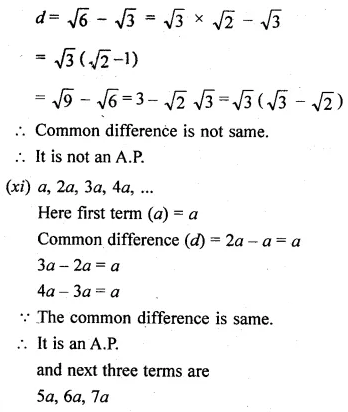ML Aggarwal Class 10 Solutions for ICSE Maths Chapter 9 Arithmetic and Geometric Progressions Ex 9.1 7