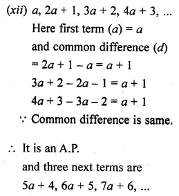ML Aggarwal Class 10 Solutions for ICSE Maths Chapter 9 Arithmetic and Geometric Progressions Ex 9.1 8