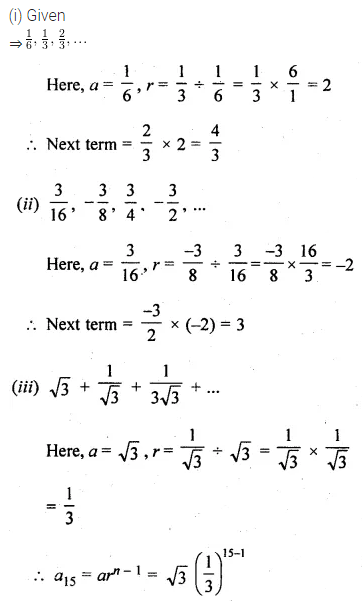 ML Aggarwal Class 10 Solutions for ICSE Maths Chapter 9 Arithmetic and Geometric Progressions Ex 9.4 1