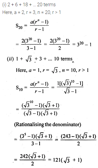 ML Aggarwal Class 10 Solutions for ICSE Maths Chapter 9 Arithmetic and Geometric Progressions Ex 9.5 1