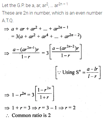 ML Aggarwal Class 10 Solutions for ICSE Maths Chapter 9 Arithmetic and Geometric Progressions Ex 9.5 12