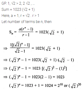 ML Aggarwal Class 10 Solutions for ICSE Maths Chapter 9 Arithmetic and Geometric Progressions Ex 9.5 15