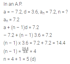 ML Aggarwal Class 10 Solutions for ICSE Maths Chapter 9 Arithmetic and Geometric Progressions MCQS 11