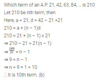 ML Aggarwal Class 10 Solutions for ICSE Maths Chapter 9 Arithmetic and Geometric Progressions MCQS 12