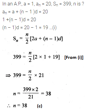 ML Aggarwal Class 10 Solutions for ICSE Maths Chapter 9 Arithmetic and Geometric Progressions MCQS 19