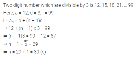 ML Aggarwal Class 10 Solutions for ICSE Maths Chapter 9 Arithmetic and Geometric Progressions MCQS 23
