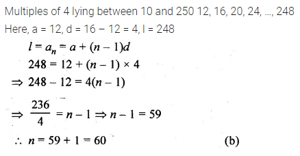 ML Aggarwal Class 10 Solutions for ICSE Maths Chapter 9 Arithmetic and Geometric Progressions MCQS 24