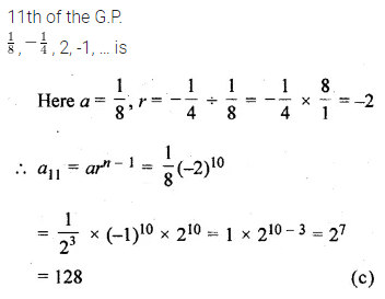 ML Aggarwal Class 10 Solutions for ICSE Maths Chapter 9 Arithmetic and Geometric Progressions MCQS 27
