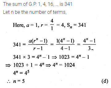 ML Aggarwal Class 10 Solutions for ICSE Maths Chapter 9 Arithmetic and Geometric Progressions MCQS 34