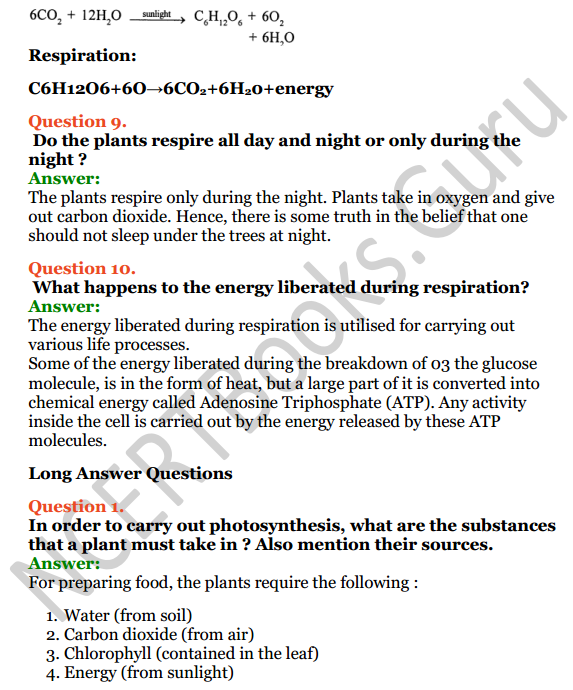 Selina Concise Biology Class 7 ICSE Solutions Chapter 4 Photosynthesis and Respiration 5
