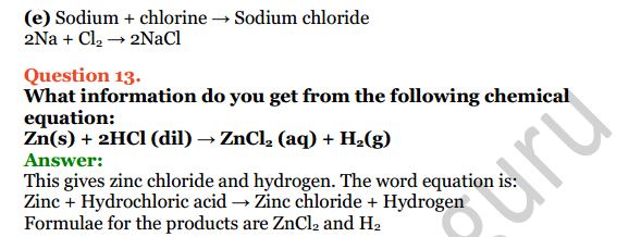 Selina Concise Chemistry Class 8 ICSE Solutions Chapter 5 Language of Chemistry 11