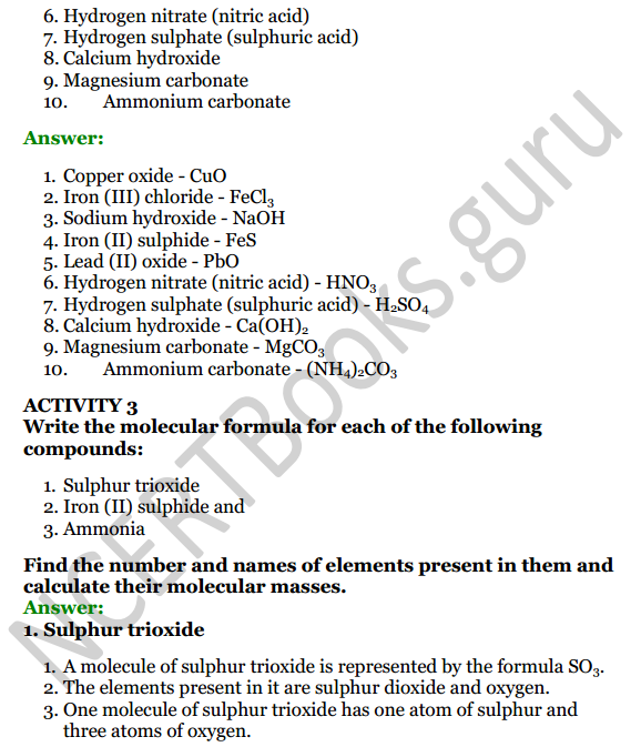 Selina Concise Chemistry Class 8 ICSE Solutions Chapter 5 Language of Chemistry 2